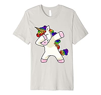 Unicorn cute dabbing T-Shirt Funny Dab Dance Rainbow Shirt