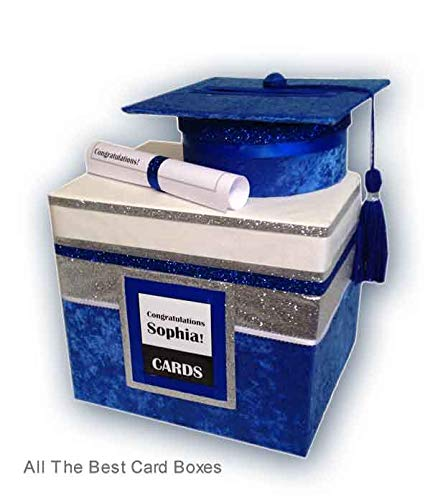 Amazon Com Blue And White Graduation Card Box Party Decoration