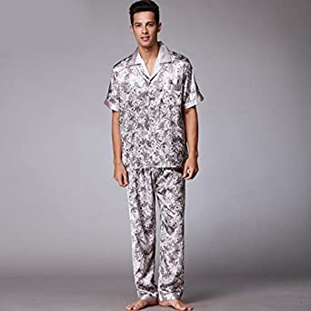 Hillhead Pijamas de seda girando Traje de dos piezas de ...