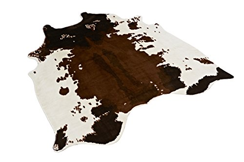 Cow Print Rug 4.1x4.2 Feet faux Cow hide rug Animal printed area rug carpet for home (Carpet Printed)