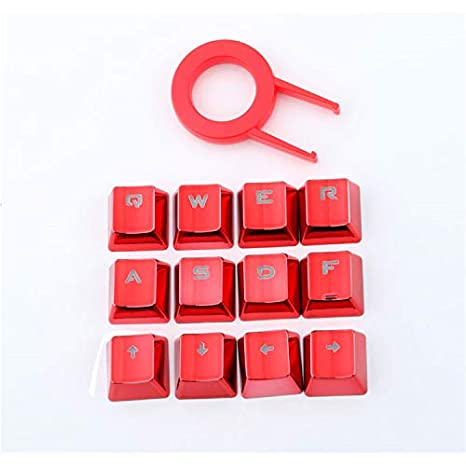 SSSLG Teclado keycap, PBT Plateado 12 Teclas retroiluminado keycap, con keycap Inserter, Adecuado