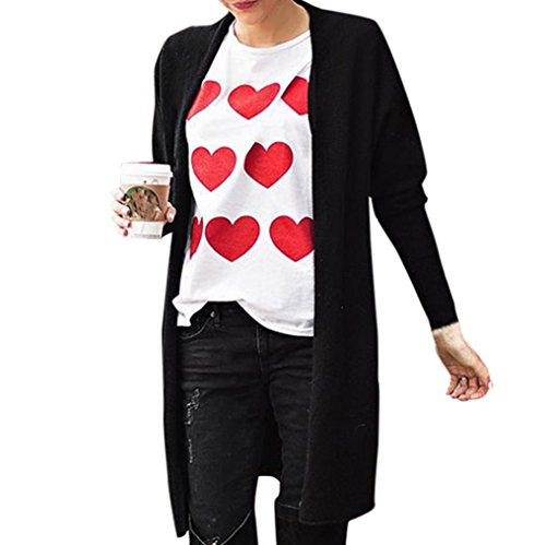 Hot Sale! Women Blouse,Kstare Women's Valentine's Day Love Long Sleeve Sweatshirt Pullover Tops Blouse Shirt Tee (White, S)