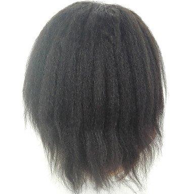 DSY belleza peluca recta Kinky Cabello humano pelucas de encaje celebridad estilo encaje peluca delantera para