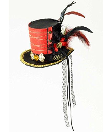 Forum Novelties Unisex-Adults Twisted Att.Mini Top Hat, Multi Color, -