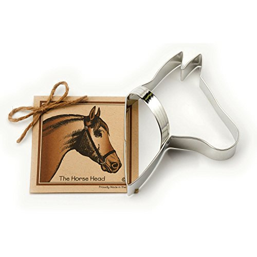 Horse Head Cookie and Fondant Cutter - Ann Clark - 5.5 Inches - US Tin Plated Steel