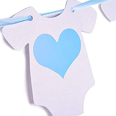 Sweet Baby Co. Baby Shower Decorations for Boy with Its A Boy Banner, Lanterns, Honeycomb Balls, Paper Tissue Pom Poms, Confetti Balloons, Silver Balloon Ribbon (Baby Blue, True Blue, Grey and White): Toys & Games