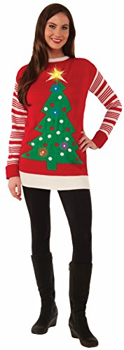 Forum Light Up Tree Ugly Christmas Sweater, Multi, Large