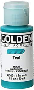 8 Oz Fluid Acrylic Color Paint Color: Teal