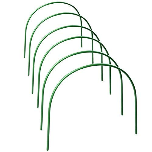 Takefuns 6Pack Plant Cover Support,Tall Garden Fabric Support Frame,Greenhouse Hoops,Plant Grow Tunnel for Garden Fabric,Garden Stakes -4ft Long Steel
