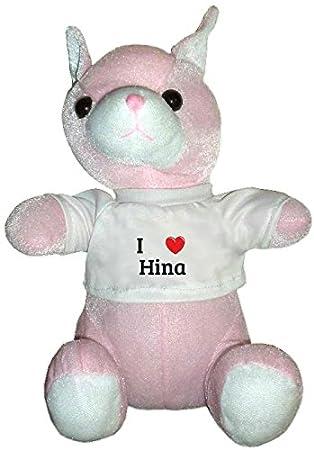 Amazon.com: Rosa de gato de peluche juguete en I corazón ...
