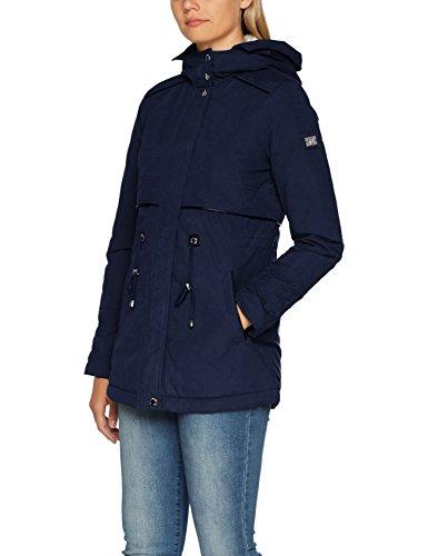 Blue real Abrigo Tom Denim 6593 Tailor Azul Navy Teddy Para With Fur Parka Mujer vvY7wZ