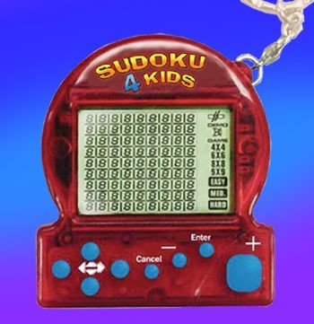 Keychain Sudoku Handheld Puzzle Game for Kids Sorted Color (Sudoku Keychain Game)