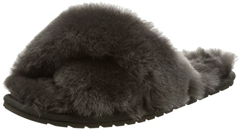 Wine Womens Mayberry in Slipper Slippers EMU Charcoal Sheepskin Australia Red wvxTwa8