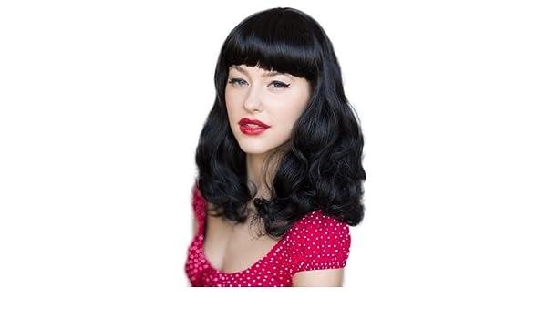Annabelle pelucas A Bettie Page estilo Colour negro peluca con pantalón corto FRINGE: Betty 200 G by Annabelle pelucas: Amazon.es: Salud y cuidado personal
