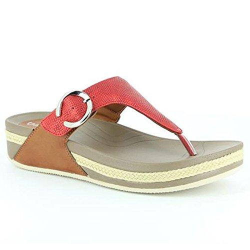 8840219760af1 Heavenly Feet Heavenly Feet Roxy Red Sandals - Sandalias de vestir de  Material Sintético para mujer ...