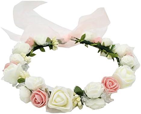 [スポンサー プロダクト]ハナ(HANA) お花の 冠 花冠 ヘッドドレス 髪飾り ヘアアクセサリー ウェディング ダンス衣装 ライブ フェス パーティーなどイベントに