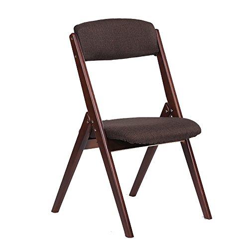 スツールソリッドウッド折り畳み式の椅子近代的なシンプルなバックチェアダイニングチェアを分解するデスクとチェアレジャーチェア (色 : ブラウン ぶらうん) B07DB76WF8 ブラウン ぶらうん ブラウン ぶらうん