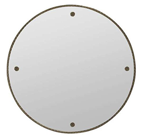 Cooper Classics Keynes Mirror - Antique gold finish 29-inch diameter - bathroom-mirrors, bathroom-accessories, bathroom - 414%2BgpefGDL -