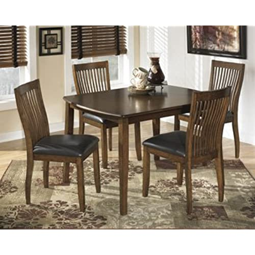 Ashley furniture kitchen tables amazon signature design by ashley stuman medium brown rectangular dining room table and 4 chairs workwithnaturefo