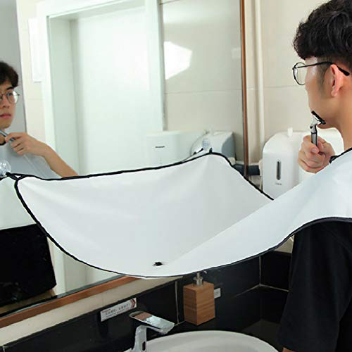 ️ Yu2d ❤️❤️ ️New Apron Facial Hair Trimmings Catcher Cape Sink Home Salon Tool ()