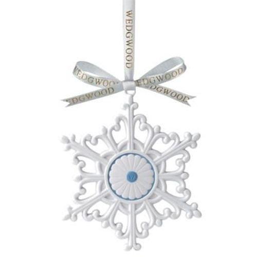 Wedgwood Large Snowflake Christmas Tree Ornament