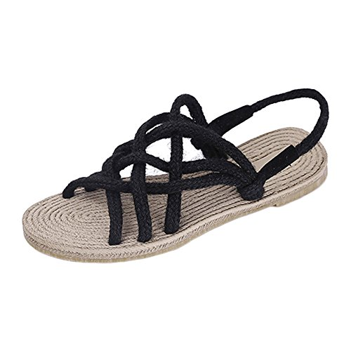 Flops Frauen Sneaker Clogs Schuhe Sandals Rope Traditionelle Rutschfeste Straw Hanf Mädchen Flip Handarbeit Schuhe Für Schwarz ZooBoo Oxford Zubehör Slipper Sohle Cosplay Männer vRP6nAA