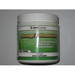 Acetyl L Carnitine (ALCAR) Bulk Powder 100g | Supplement for Energy, Mental Focus, Fat Metabolization & Fat Loss, Fatty Acid Transporter Amino