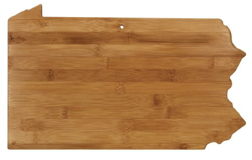 "Totally Bamboo State Cutting & Serving Board – ""PENNSYLVANIA"", 100% Organic Bamboo Cutting Board for Cooking, Entertaining, Décor and Gifts. Designed in the USA!"