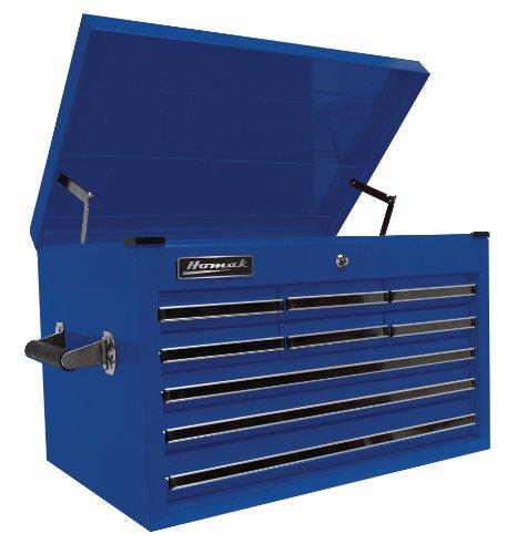 Professional Series Tool Storage Chest (Homak 27-Inch Professional Series 9 Drawer Extended Top Chest, Blue, BL02027901)