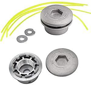 Osuter 2PCS Cabezal Desbrozadora Universal, Cabezal Hilo Aluminio ...