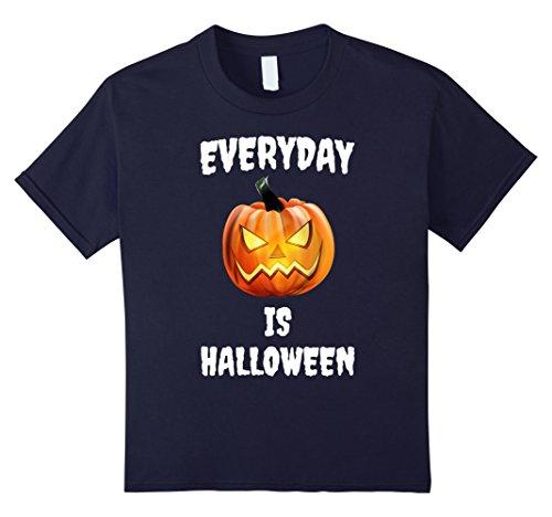 Kids Everyday is Halloween Funny Jack-O-Lantern T-Shirt 12 Navy