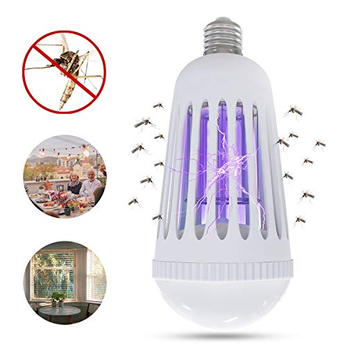Yeteng Bug Zapper Light Bulb, Indoor Outdoor Mosquito Killer Lamp, UV LED Electronic Insect & Fly Killer, Perfect for Porch Patio Backyard