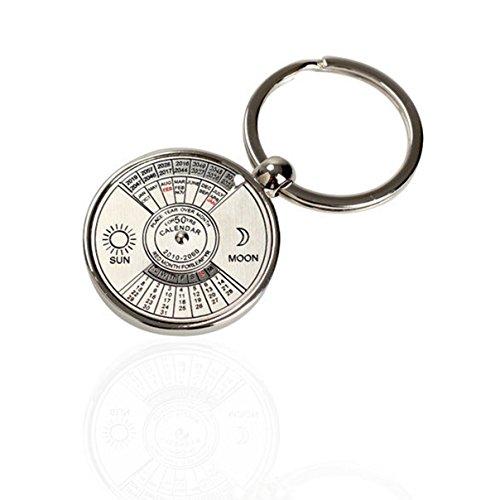 1 Pc Expert Chic Keychain Key Chain Ring Mini Alloy Calendar Unique Metal Colors Silver