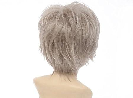 Amazon.com : Haikyu!! Haikyuu!! Karasuno Cosplay Wig Sugawara koushi Mens Short Wig (Gray) : Beauty