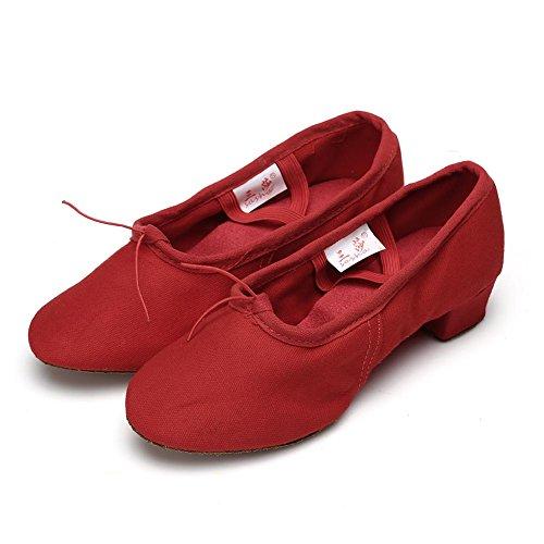 Roymall Frauen Latin Dance Schuhe Modell 101 Rot-1