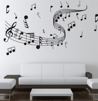 Attractive Dailinming WALLu0027S MATTER Home Decor Music Note Wall Decals Graffiti Wall  Stickers