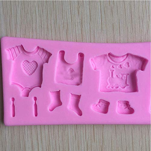 SYGA Baby Clothes Shape Silicone Chocolate Fondant Biscuit Mold Cake Decorating Baking Mould