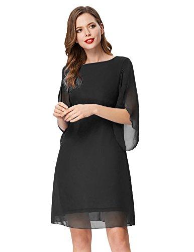 GRACE-KARIN-Women-Loose-Chiffon-Dress-34-Sleeve-Evening-Dress-for-Cocktail-Party