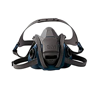 3M 6501QL Gray/Teal Rugged Comfort Quick Latch Half Facepiece Reusable Respirator, Small