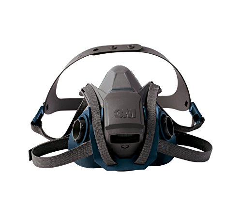 3M Rugged Comfort Quick Latch Half Facepiece Reusable Respirator 6501QL/49488, Small - Respiratory Masks