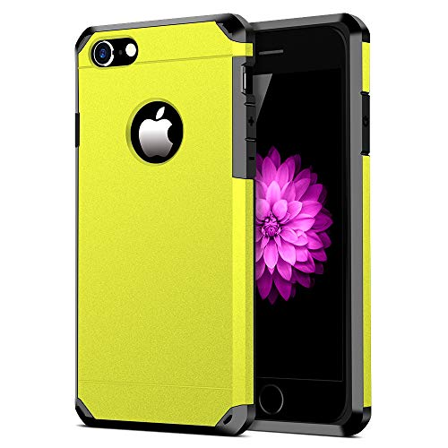 iPhone 7/8 Case, ImpactStrong Heavy Duty Dual Layer Protection Cover Heavy Duty Case for iPhone 7/8 (Yellow)