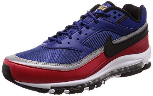 Nike Mens Air Max 97 /BW Deep Royal Blue/Black Leather Size 9.5