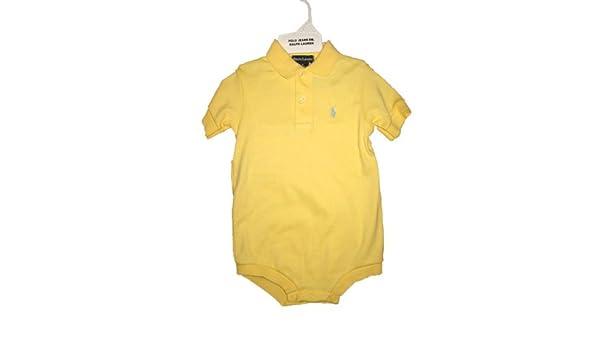 98cad7d35 Amazon.com  Polo Ralph Lauren Yellow Romper  Baby