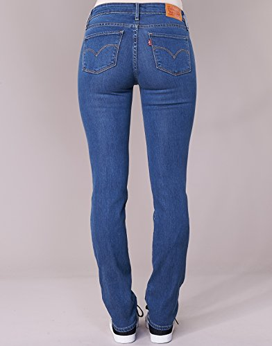 Levis Bleu Straight 28 Jeans 34 714 Lone Wolf qxBvEA