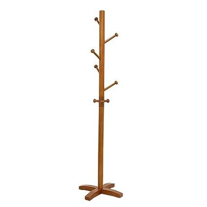 Amazon.com: LXJYMX Perchero vertical simple de madera maciza ...