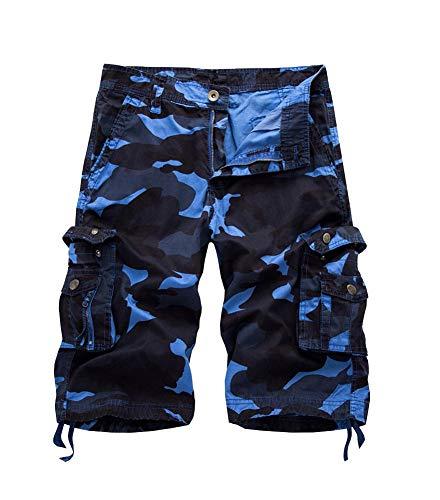 Mode De Cargo À Lâche 4 Multiples Décontractés Bermudes Pantalons 3 Chic Sport D'été Himmelblau Hommes Poches Pour TYdqOCXw