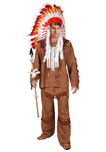 Deluxe Men's Indian Costume X-Large Brown