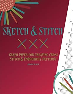 sketch and stitch graph paper for creating cross stitch and embroidery patterns