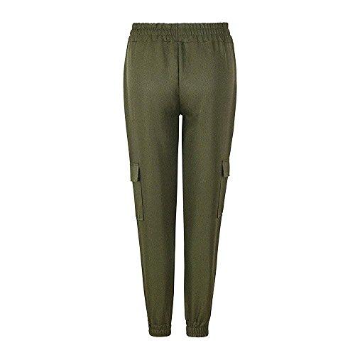 Pantaloni Lunga Libero Estivi Tendenza Verde Swag Damigella Pantalone Tasche Colore Tempo Harem Puro Lannister Due Casual Streetwear Pants Dei HYwxqdaY