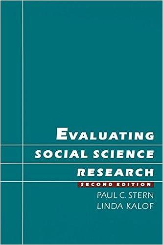 Evaluating Social Science Research: Paul C  Stern, Linda